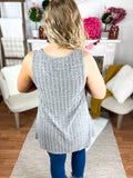 Gretta Grey Stones Embellished Tank Top