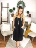Maci Cami Dress Knee Length With Pockets