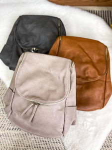 Kerri Side Pocket Backpack with Back Zipper Pocket