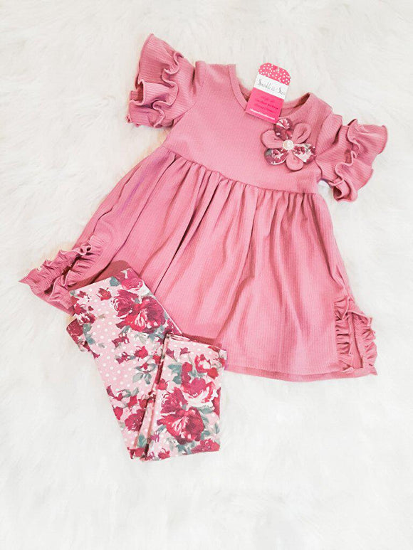 Sabrina Rose With Floral Leggings Toddler 2 Piece Set