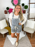 Trinity Grey Thin Stripe Overalls With Pockets
