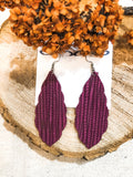 "Palm Leather Earrings 2.5"" - 2 Colors"