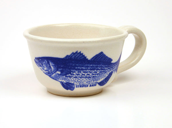 Chowder Mug - In Glaze Illustration - Striped Bass