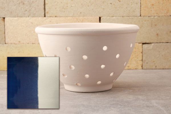 Berry Bowl - Cobalt Blue and White