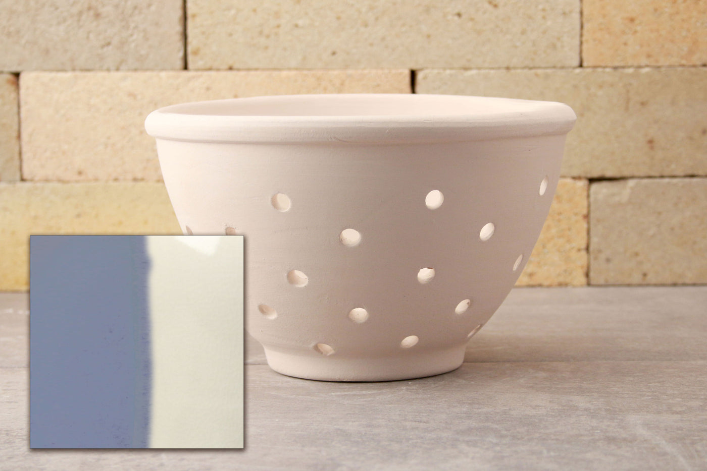 Berry Bowl - Sky Blue and White