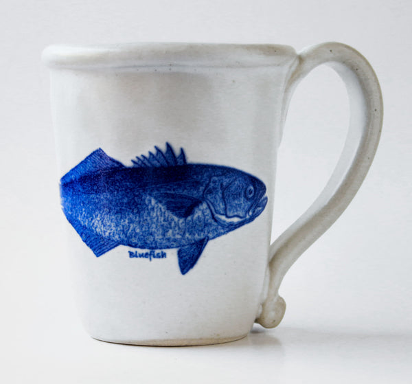 Chatham Pottery Bluefish Decal Mug