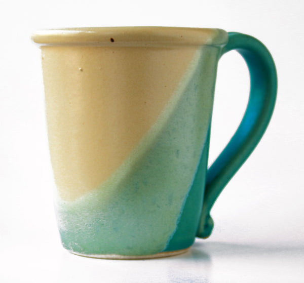 Chatham Pottery Duotone Caribbean Blue and Yellow Mug