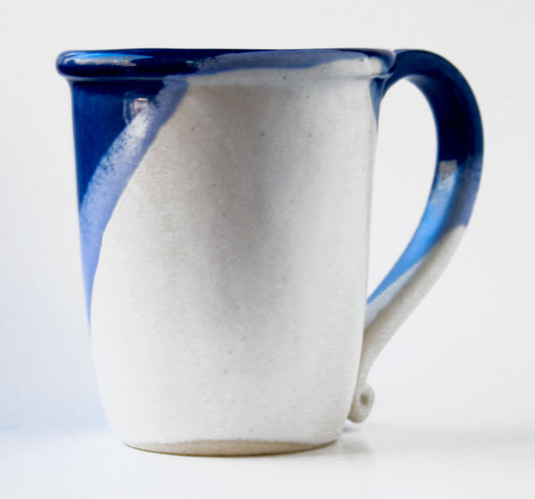 Chatham Pottery Duotone Cobalt Blue and White Mug
