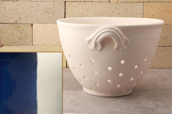 Colander - Cobalt Blue and White