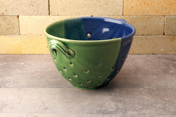 Colander - Cobalt Blue and Sea Green