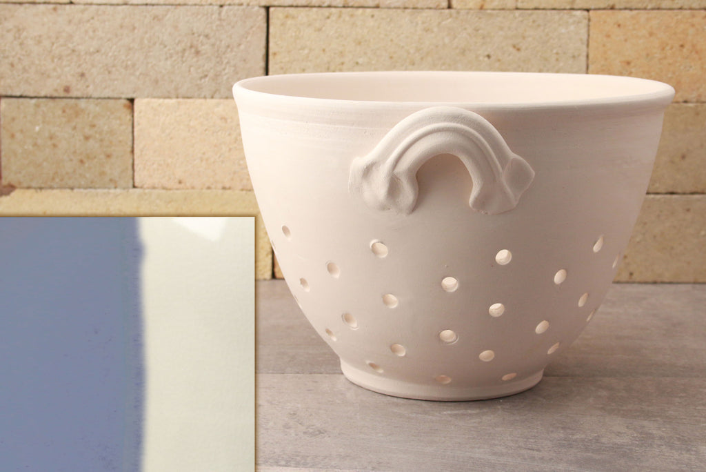 Colander - Sky Blue and White