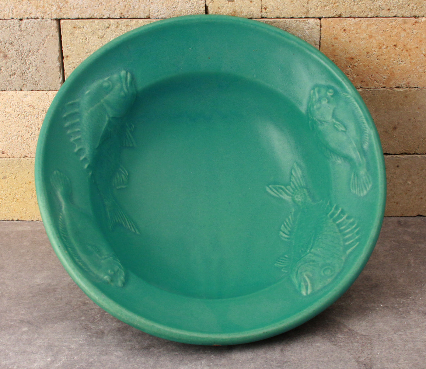Fluke and Scup Relief Bowl - Caribbean Blue