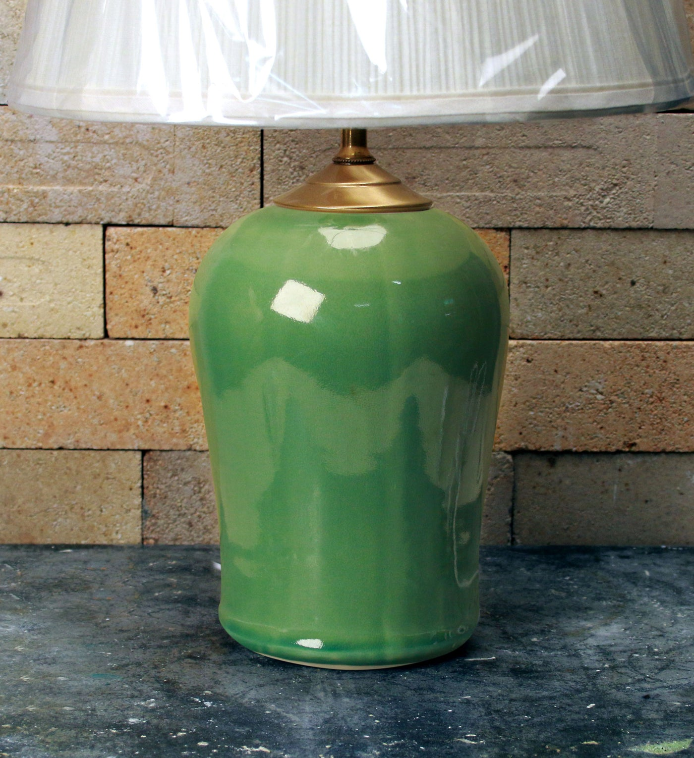 Chatham Pottery Sea Green Small Lamp