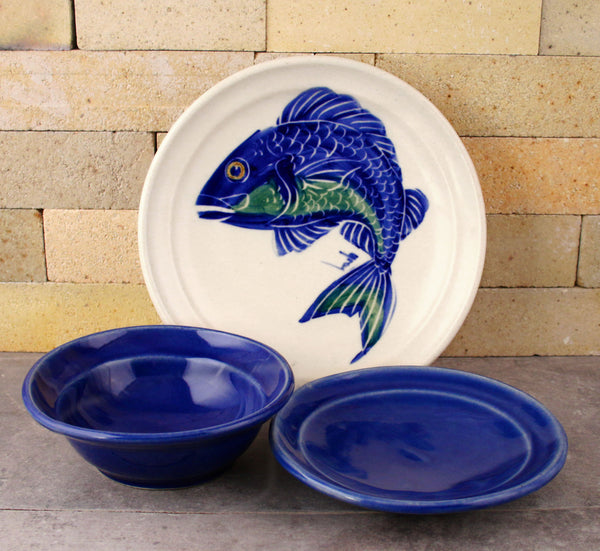 Dinnerware - Hand Painted Fish