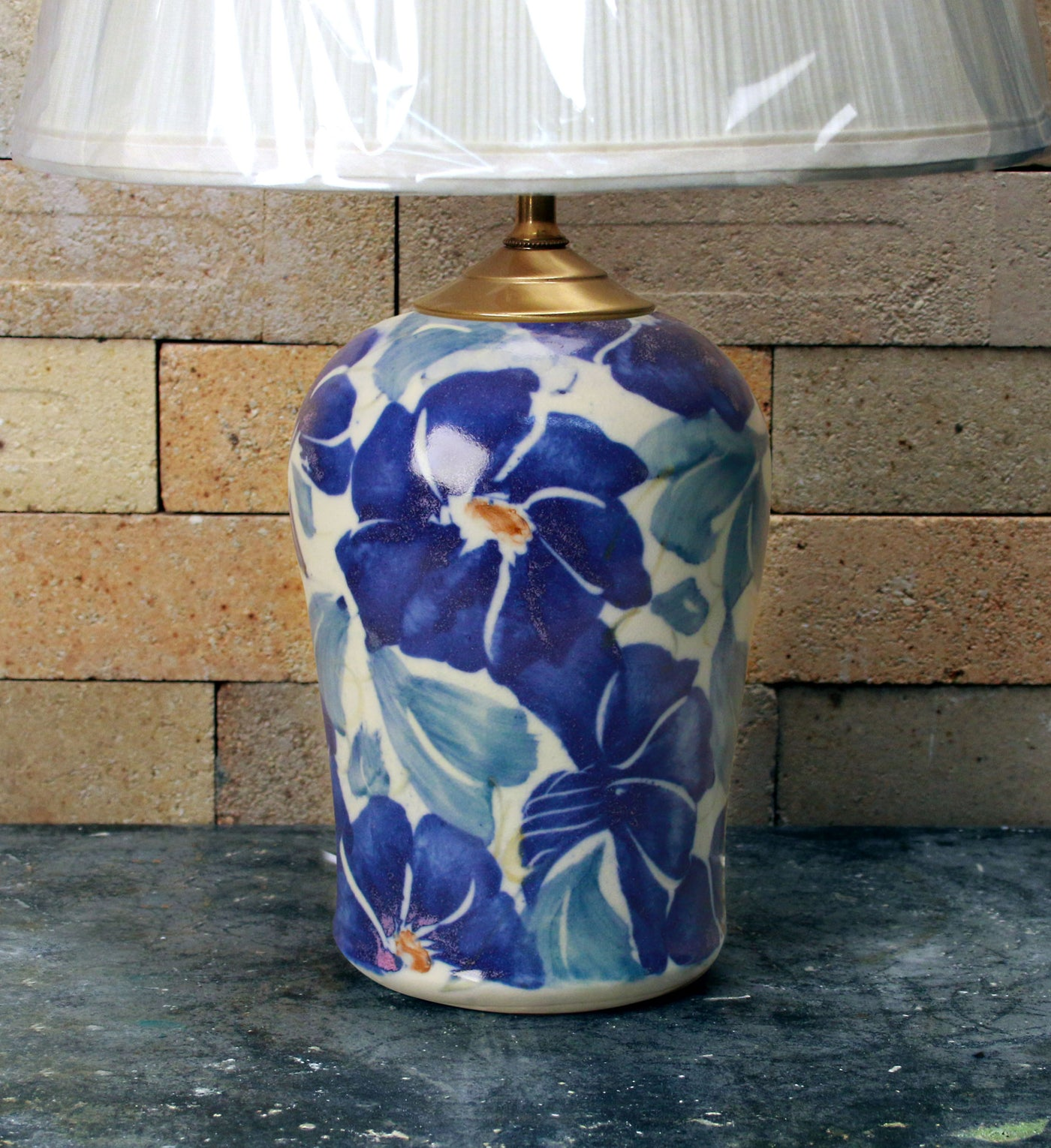 Chatham Pottery Morning Glory Small Lamp