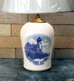 Chatham Pottery Nauset Light In Glaze Decal Small Lamp