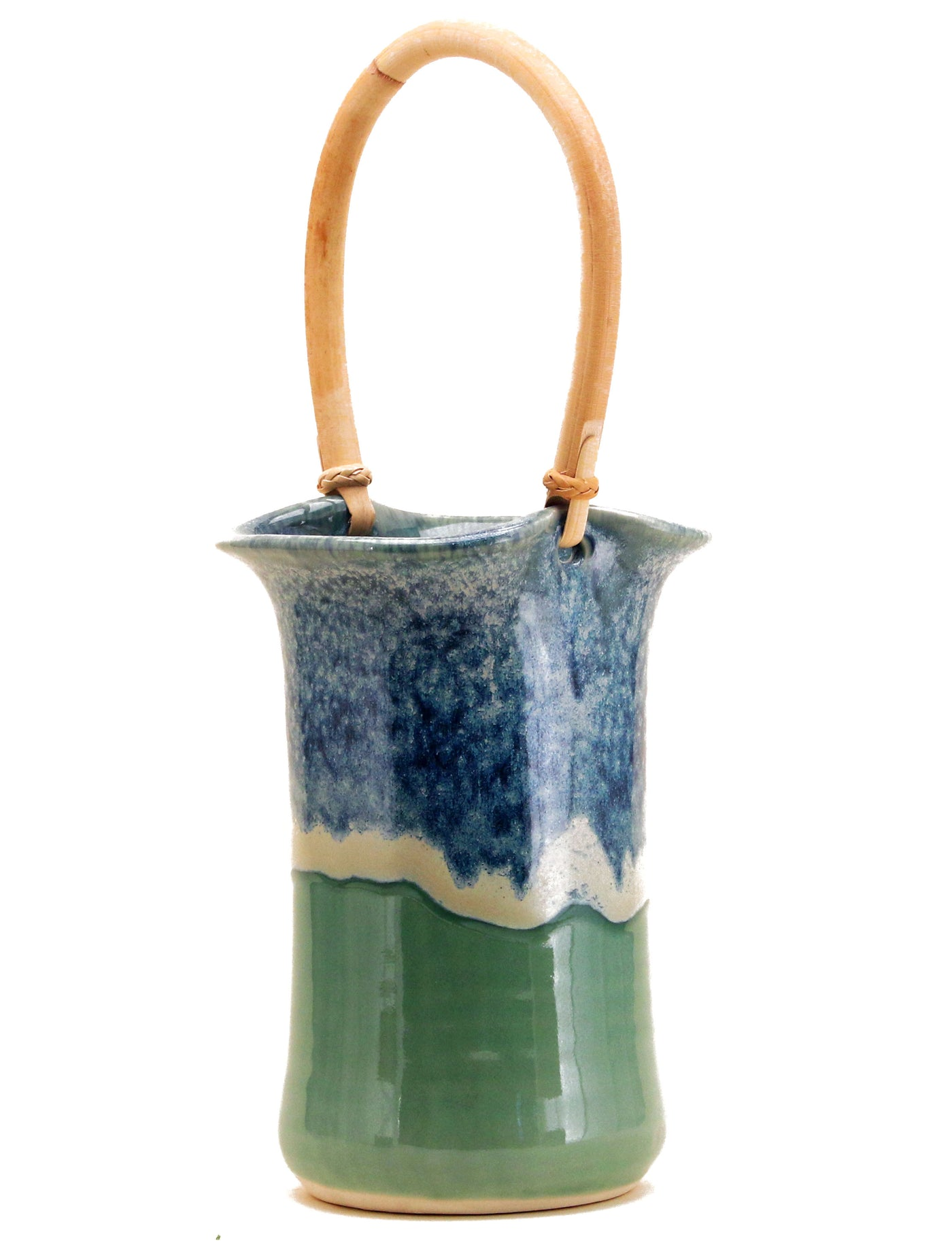 Wine Caddy - Sea Foam Green
