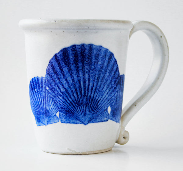 Chatham Pottery Scallop Shells Decal Mug