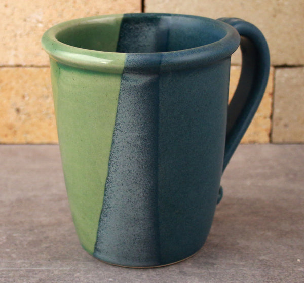 Mug - Sea Green and Denim