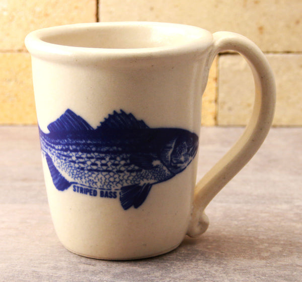 Chatham Pottery Striped Bass Decal Mug