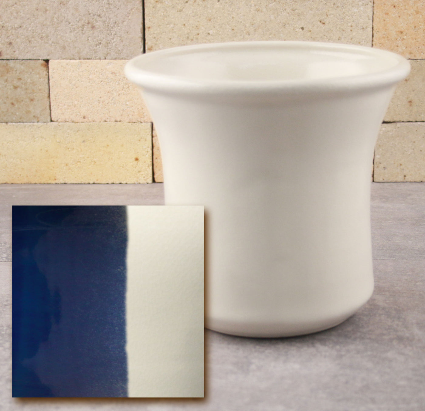 Utensil Holder - Cobalt Blue and White