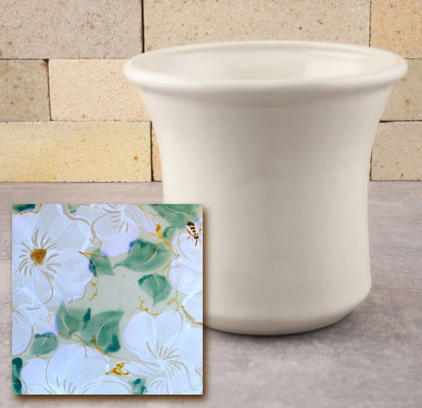 Utensil Holder - White Floral