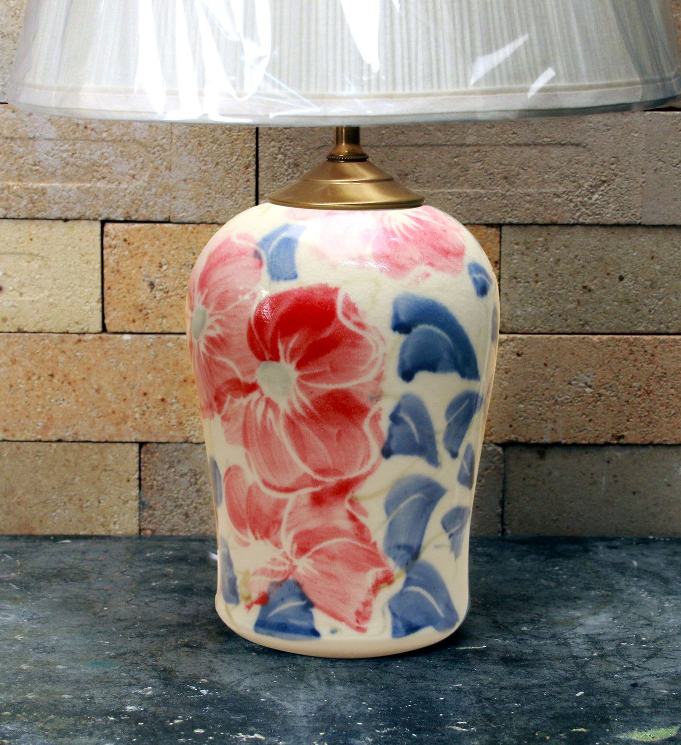 Chatham Pottery Beach Rose Small Lamp