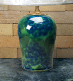 Chatham Pottery Green Hydrangea Medium Lamp