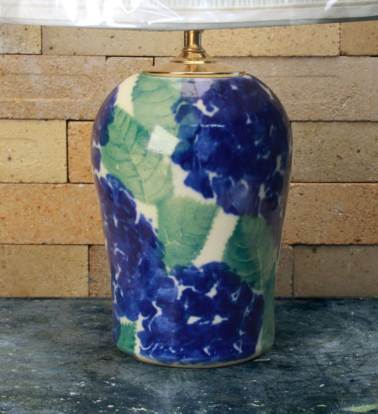Chatham Pottery Hydrangea Medium Lamp