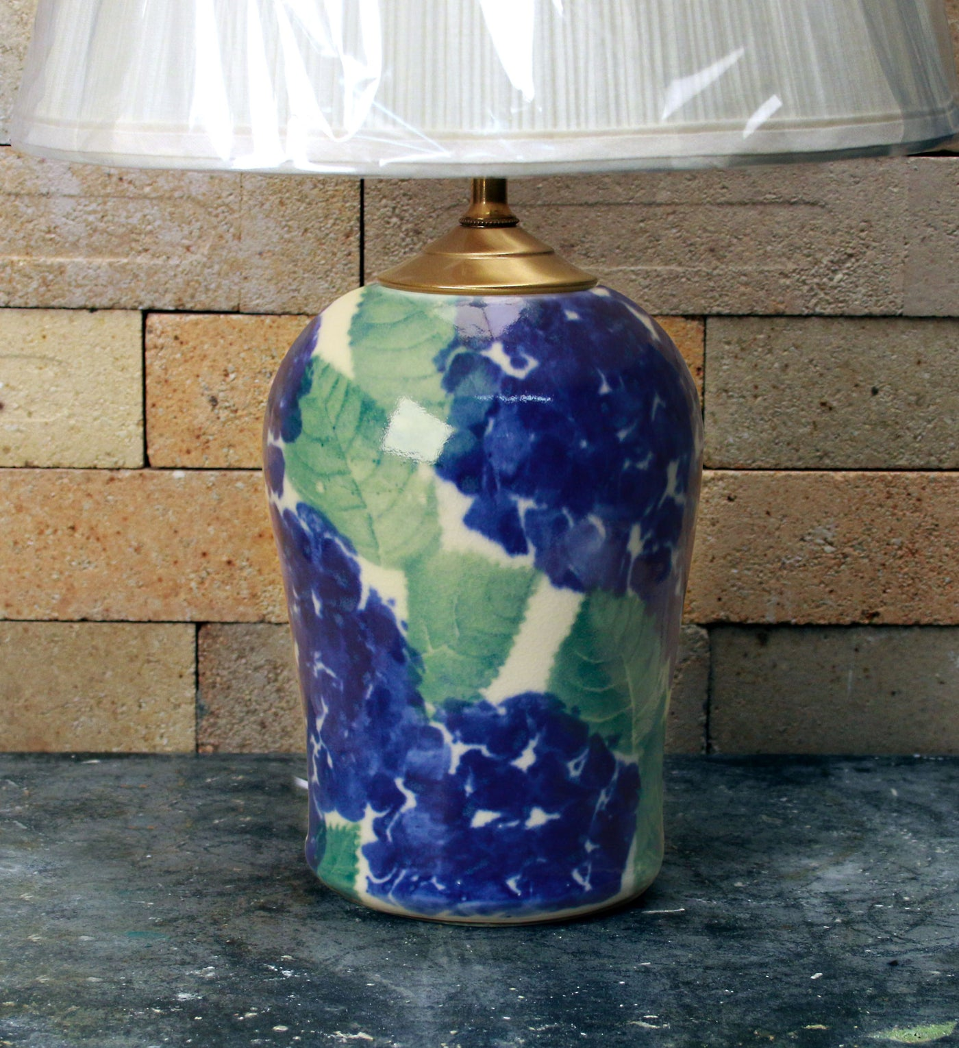 Chatham Pottery Hydrangea Small Lamp