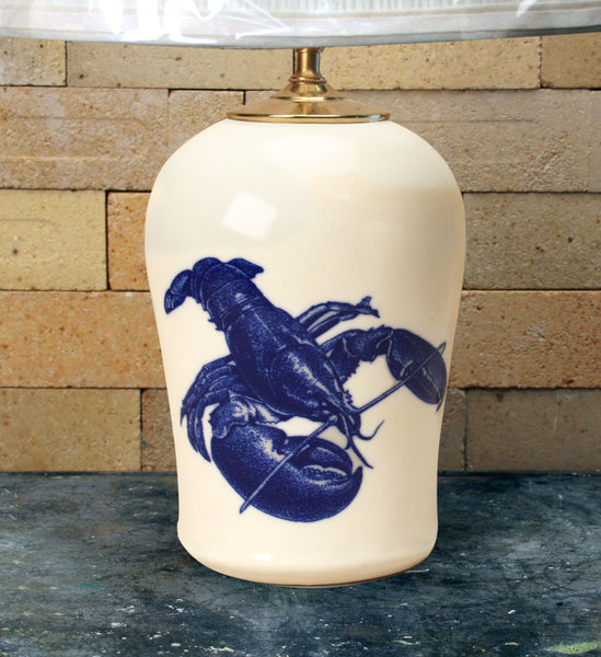Chatham Pottery Lobster In-Glaze Decal Medium Lamp
