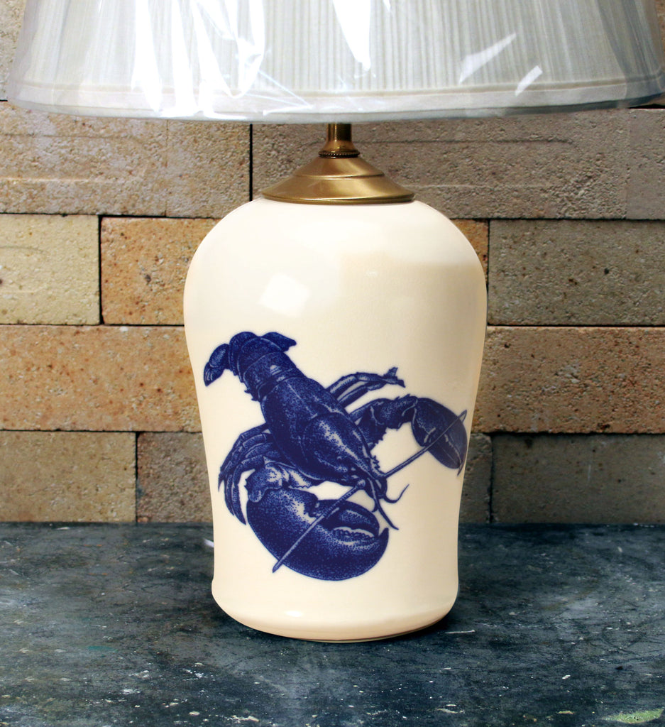 Chatham Pottery Lobster In-Glaze Decal Small Lamp