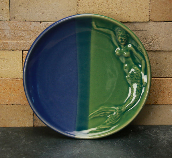 Dinnerware - Mermaid Duotone Cobalt Blue and Sea Green