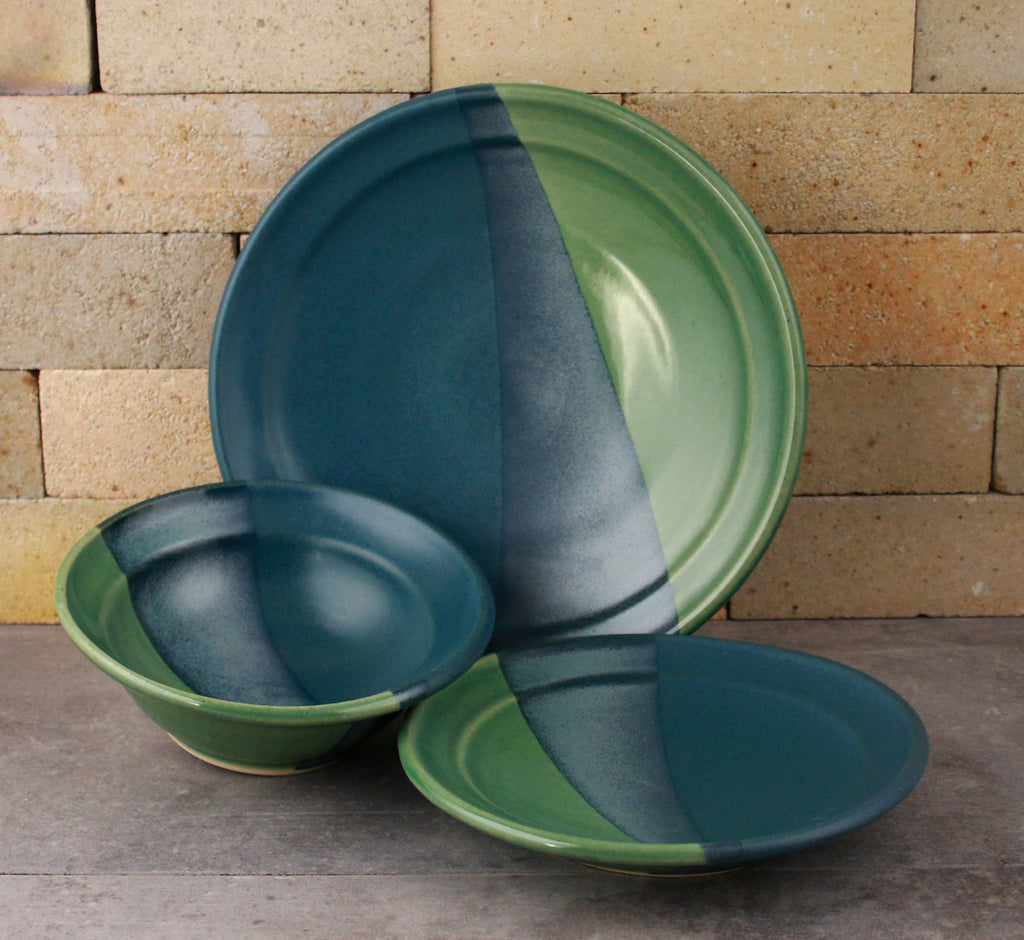 Dinnerware - Sea Green and Denim