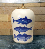 Chatham Pottery Trio of Fish Medium Lamp