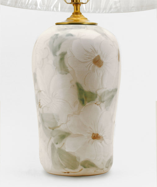 White Floral Lamp