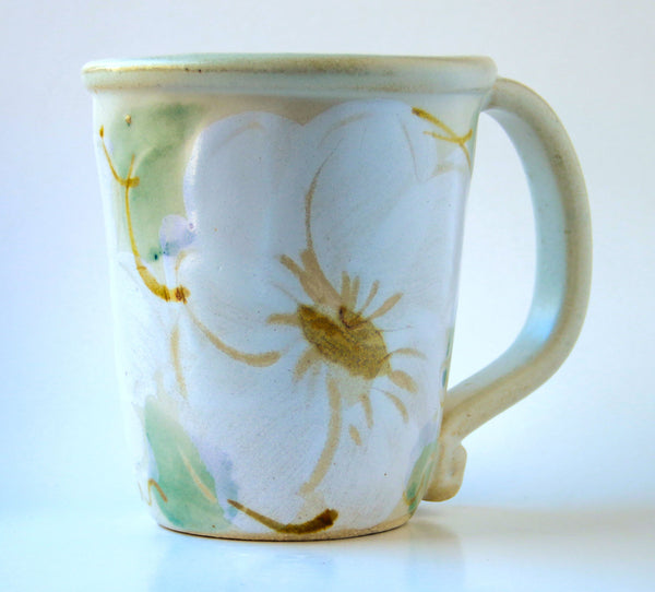 Mug - Handpainted Pattern - White Floral