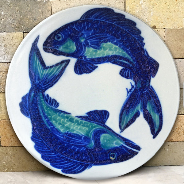 Pizza Stone - Hand Painted Fish