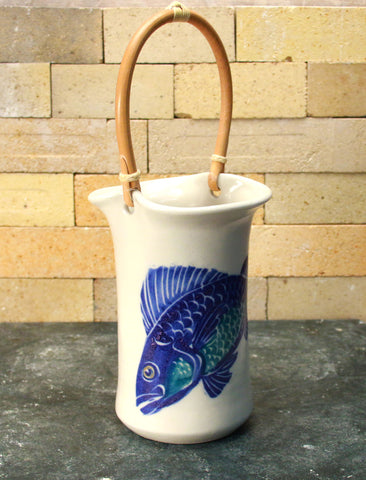 Wine Caddy - Handpainted Fish