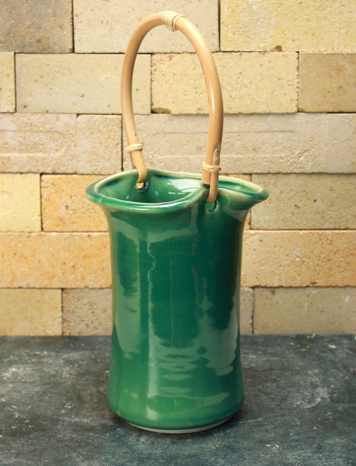 Wine Caddy - Sea Green