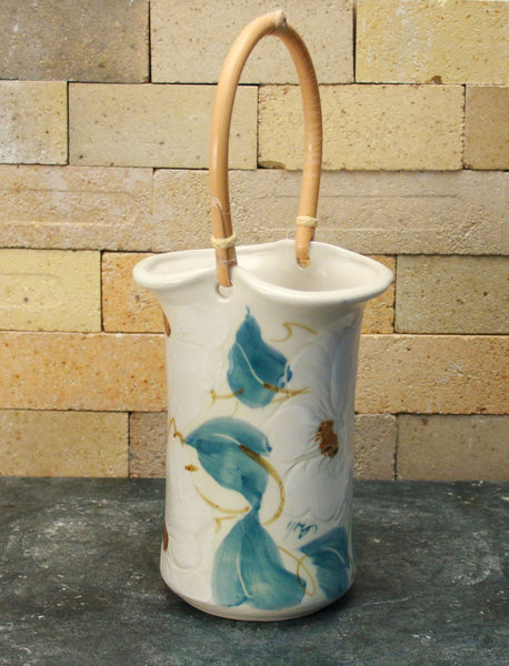 Wine Caddy - White Floral