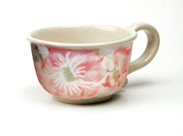 Chowder Mug - Handpainted Pattern - Beach Rose