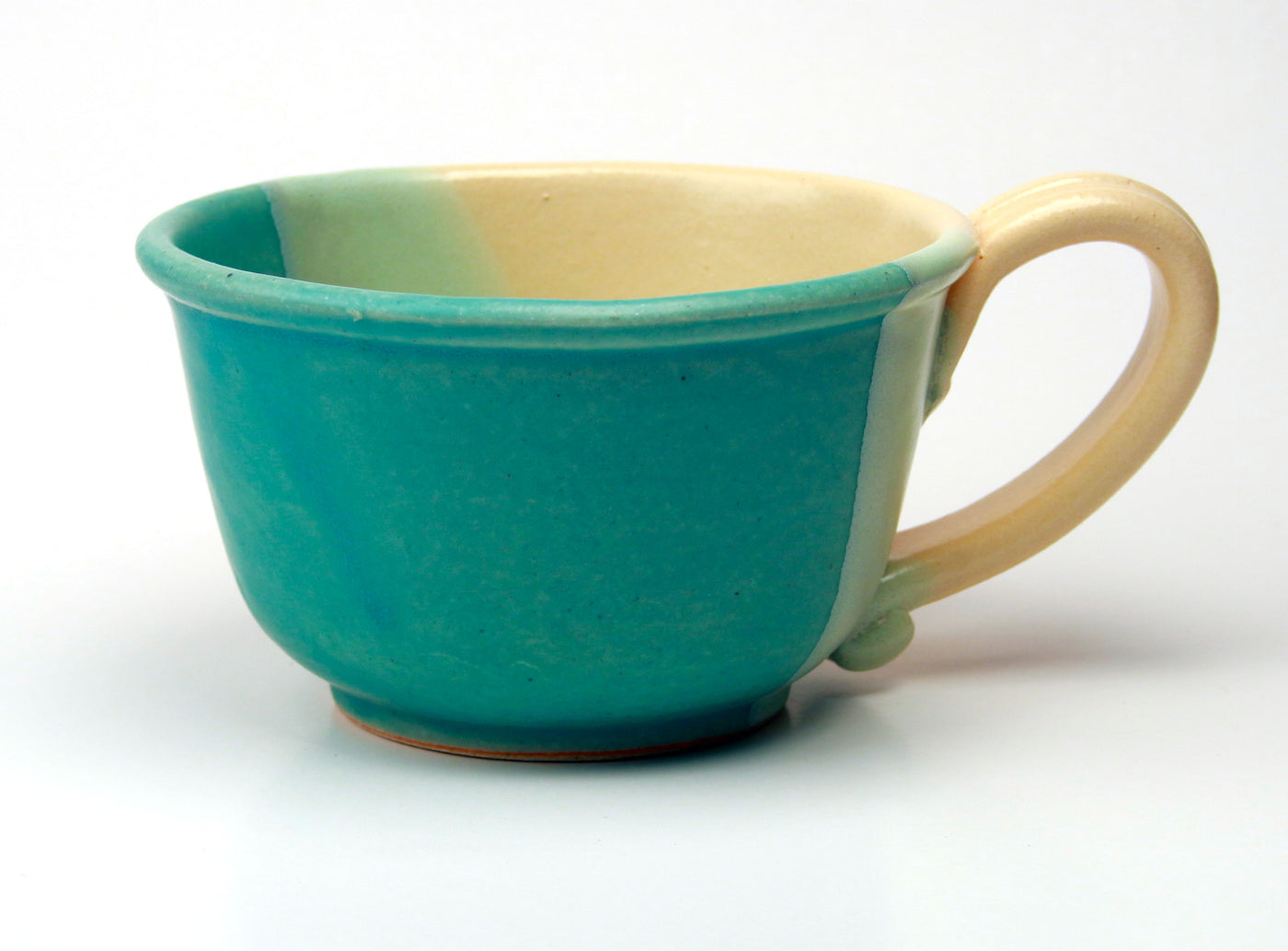 Chowder Mug - Duotone Glaze - Caribbean Blue and Yellow