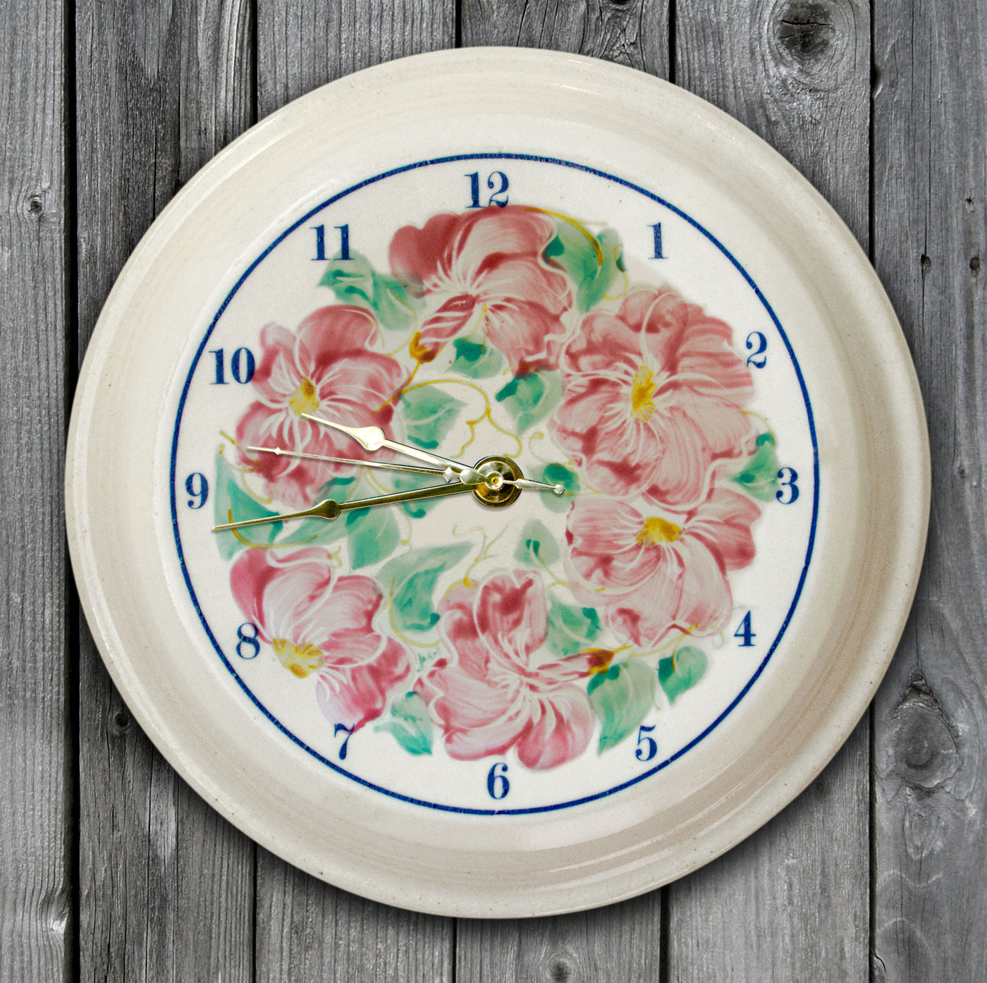 CLOCK - Beach Rose Pattern