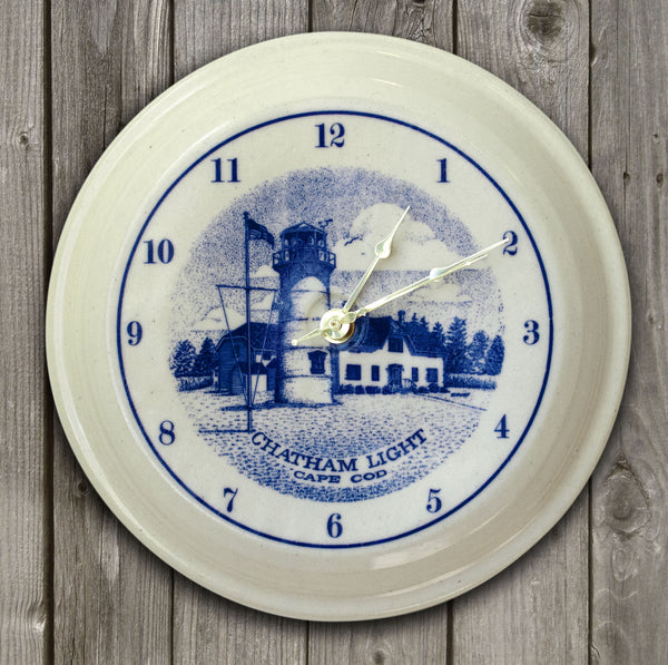 CLOCK - In-Glaze Decal - Chatham Light