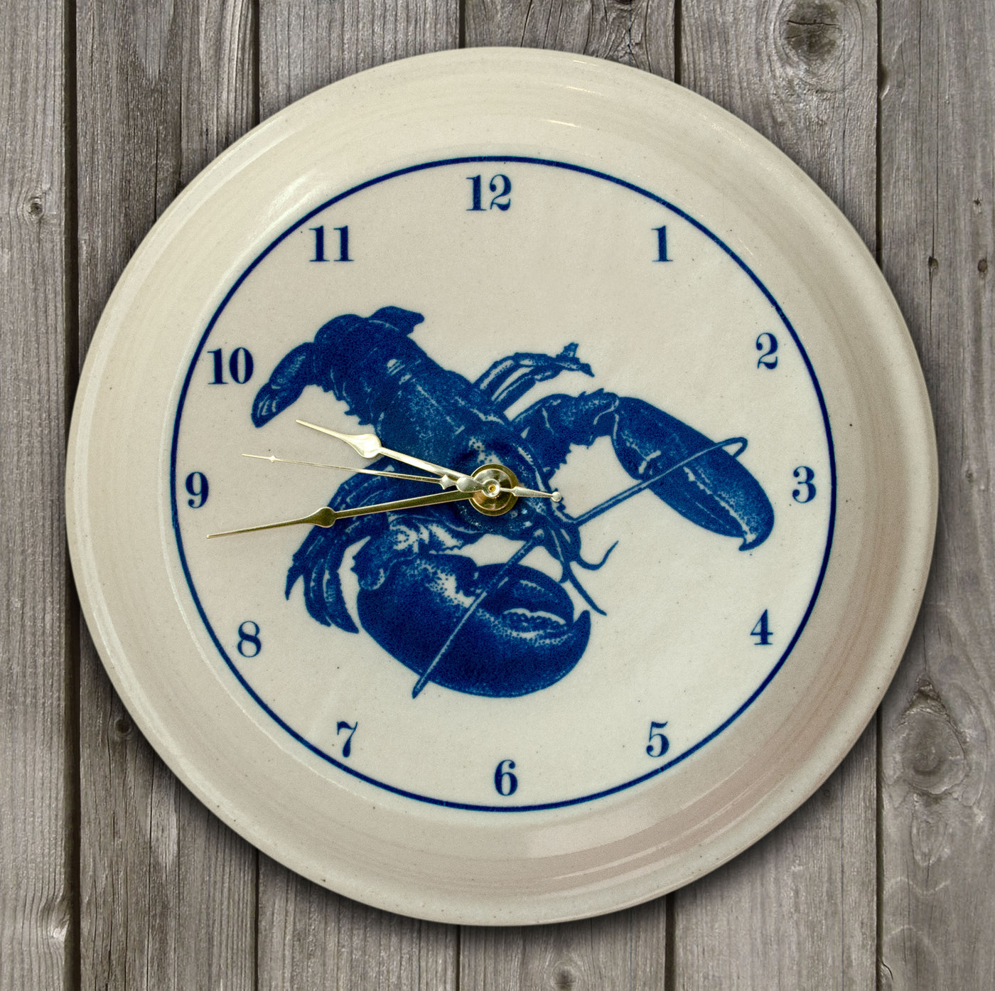 CLOCK - In-Glaze Decal - Lobster