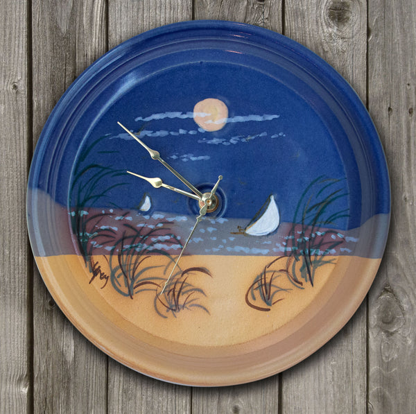 CLOCK - Monomoy Pattern - Cobalt Blue