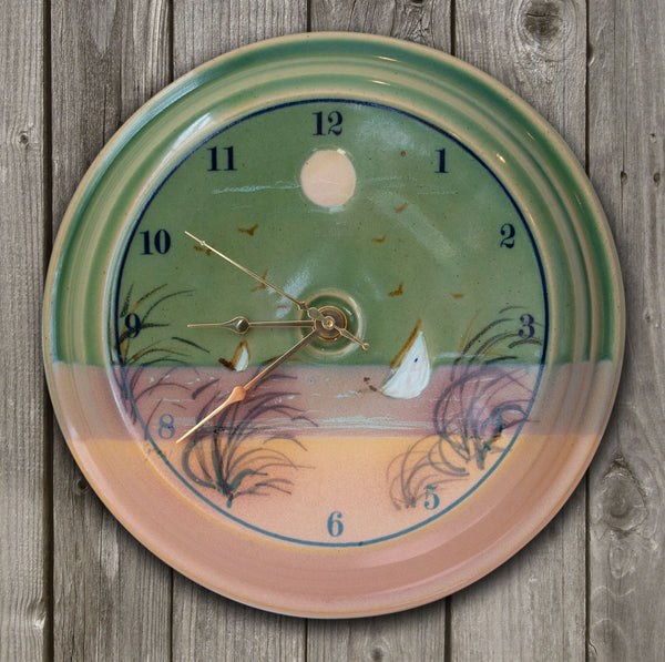 CLOCK - Monomoy Pattern - Sea Green