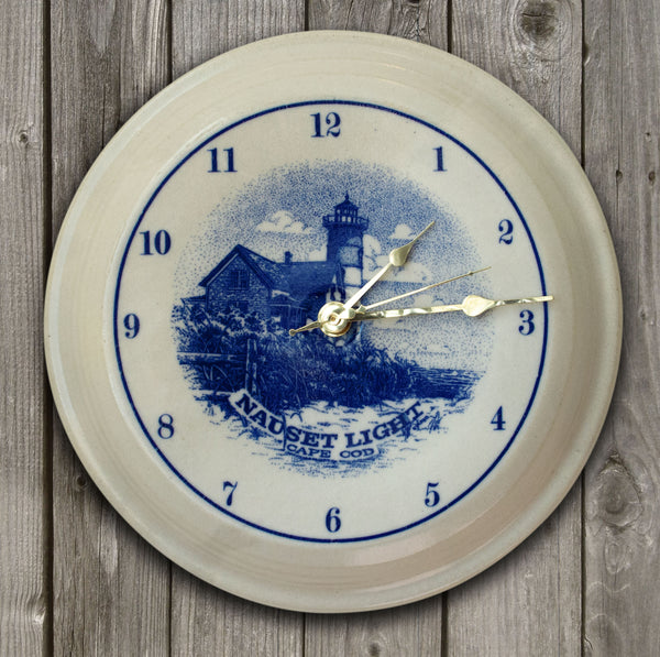 CLOCK - In-Glaze Decal - Nauset Light