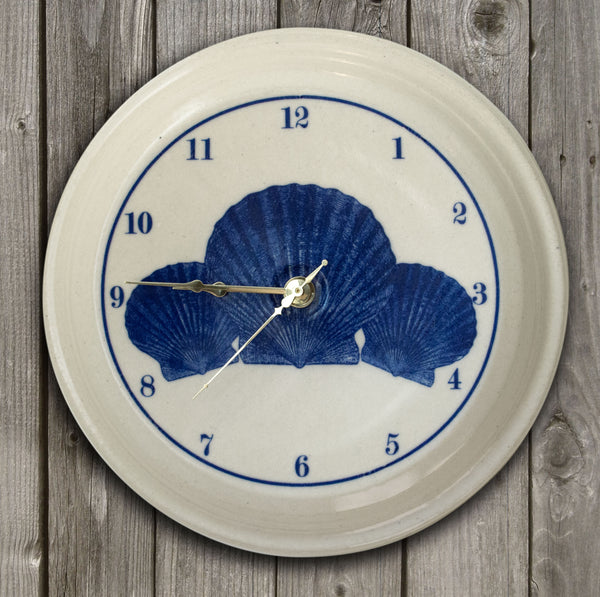 CLOCK - In-Glaze Decal - Scallop Splay